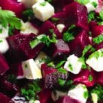 Beetroot salad collage