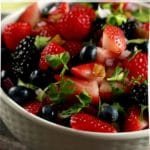 Berry fruit salad collage