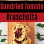 Bruschetta on cutting board