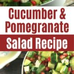 Cucumber Pomegranate Salad in White Bowl