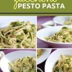 Zucchini Pesto Pasta Collage