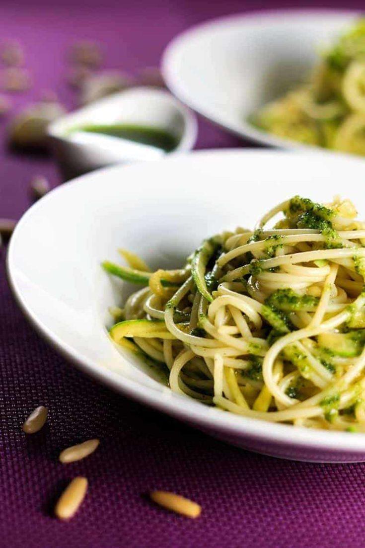 Pesto Zucchini Spaghetti