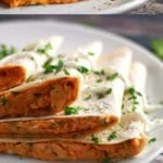 Sriracha chicken quesadilla pinterest collage