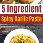 Garlic pasta collage