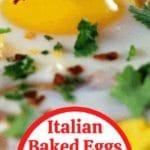 Italian eggs collage