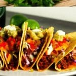 Spicy beef tacos collage