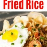 Indonesian Fried Rice Collage