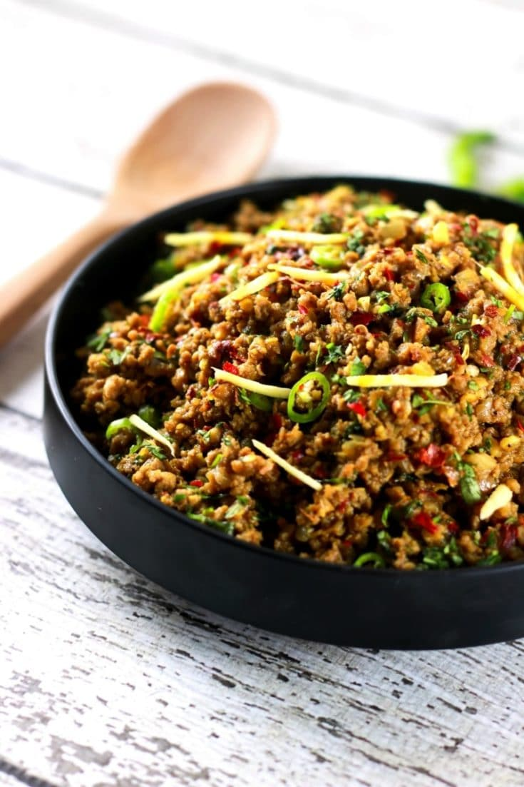 Authentic Indian Minced Meat Qeema | ScrambledChefs.com