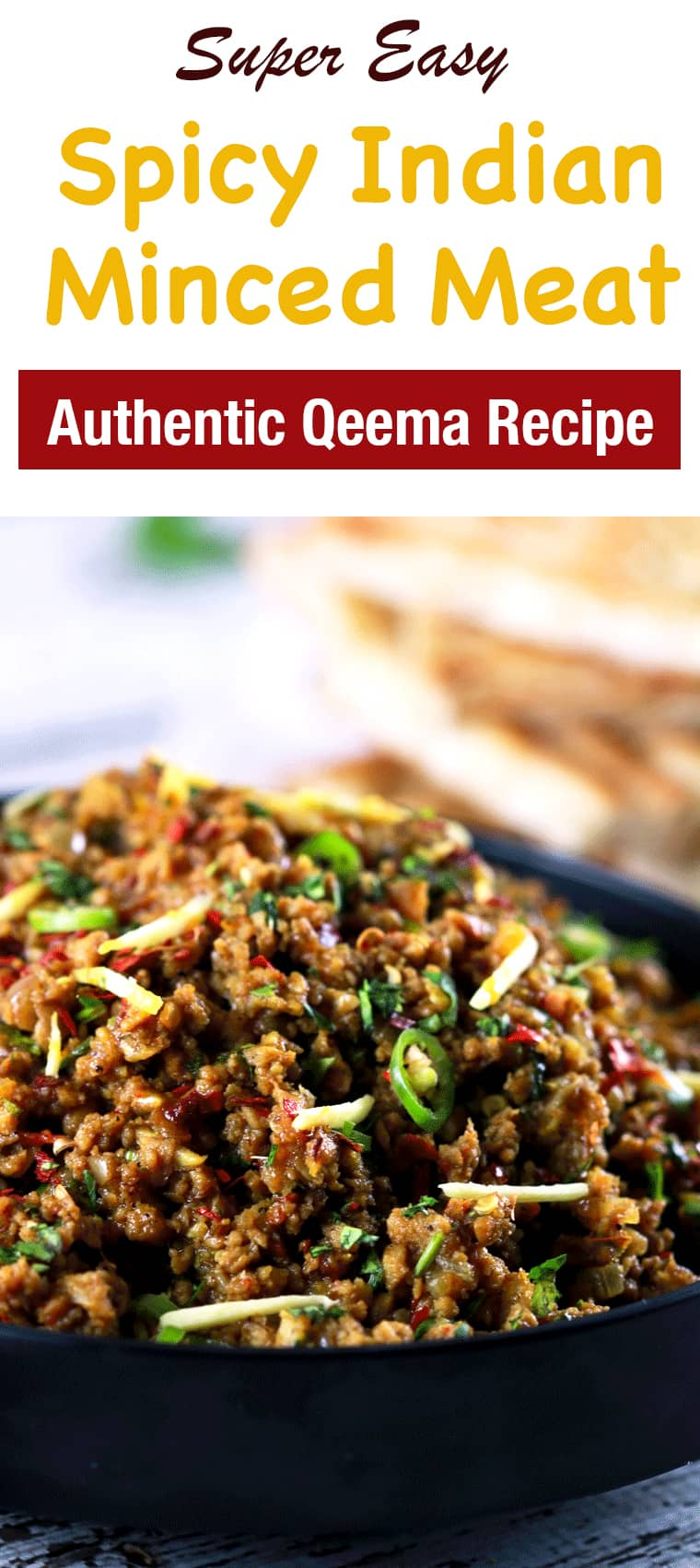 Authentic Indian Minced Meat Qeema - This authentic Indian minced meat Qeema recipe is so delicious, it'll become a regular at your house!! And nothing's better than the fact that you make it within 20 minutes!! | ScrambledChefs.com