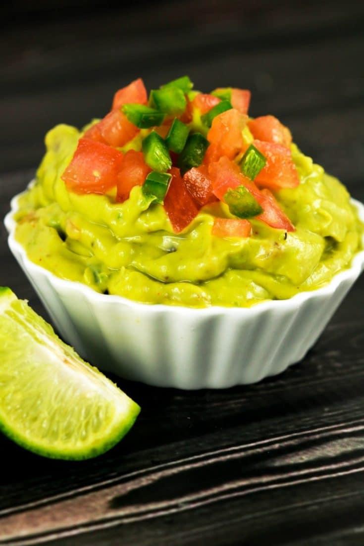 Homemade Tangy Guacamole Dip