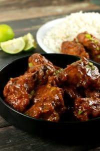 Crispy Sticky Thai Chicken Wings