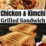 Kimchi sandwich collage
