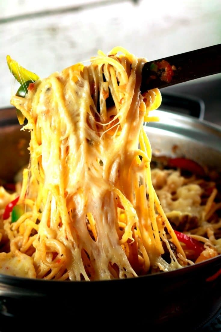 Super Cheesy Mexican Pasta