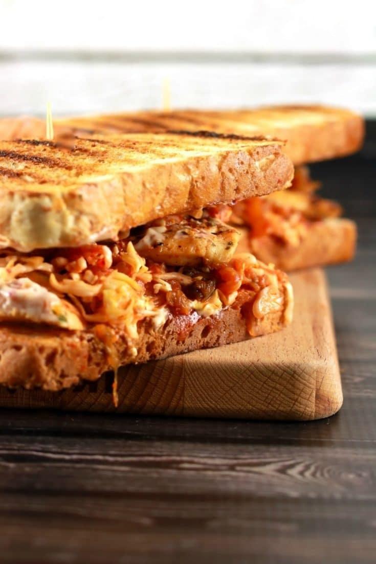 Spicy Crunchy Kimchi Sandwich