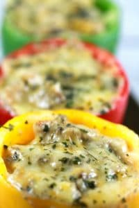 Stuffed Bell Peppers with Creamy Chicken Mushroom