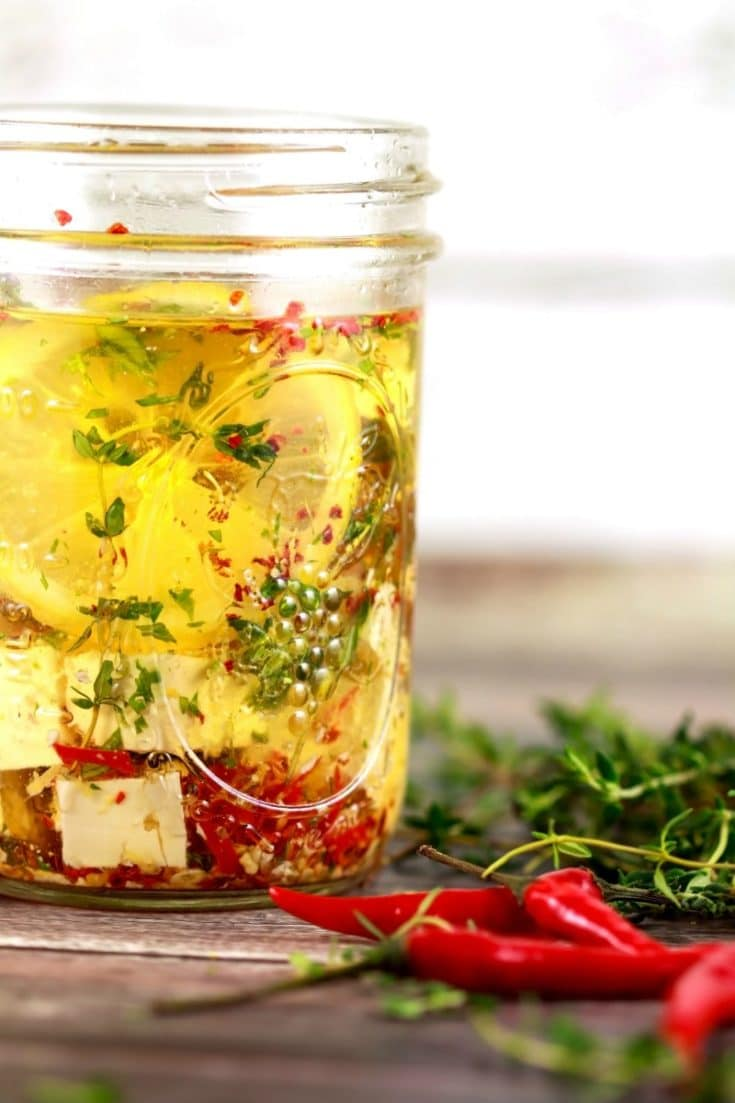 Zesty Marinated Feta Cheese