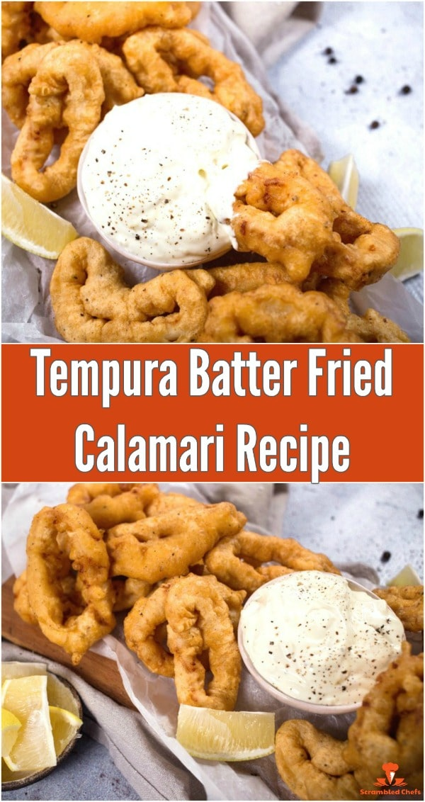 Fried calamari on a batter with dipping sauce