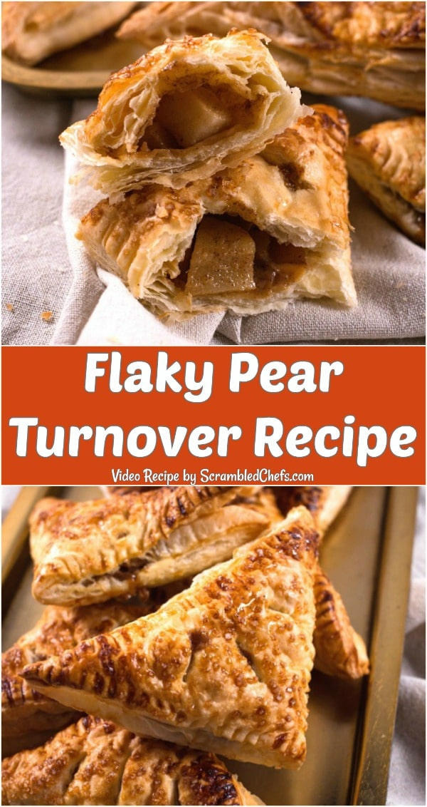Flaky Pear Turnovers on a baking sheet