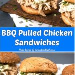 Slow Cooker Sweet BBQ Pulled Chicken Sandwiches
