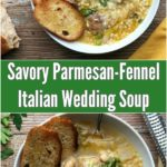 Collage of Italian wedding soup pictures