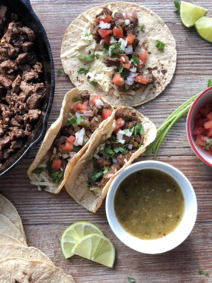 Citrusy Carne Asada Mexican Street Tacos