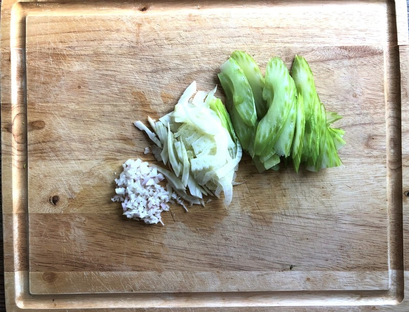 Fennel salsa ingredients