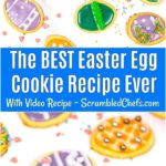 Collage of colorful decorated Eater egg cookies