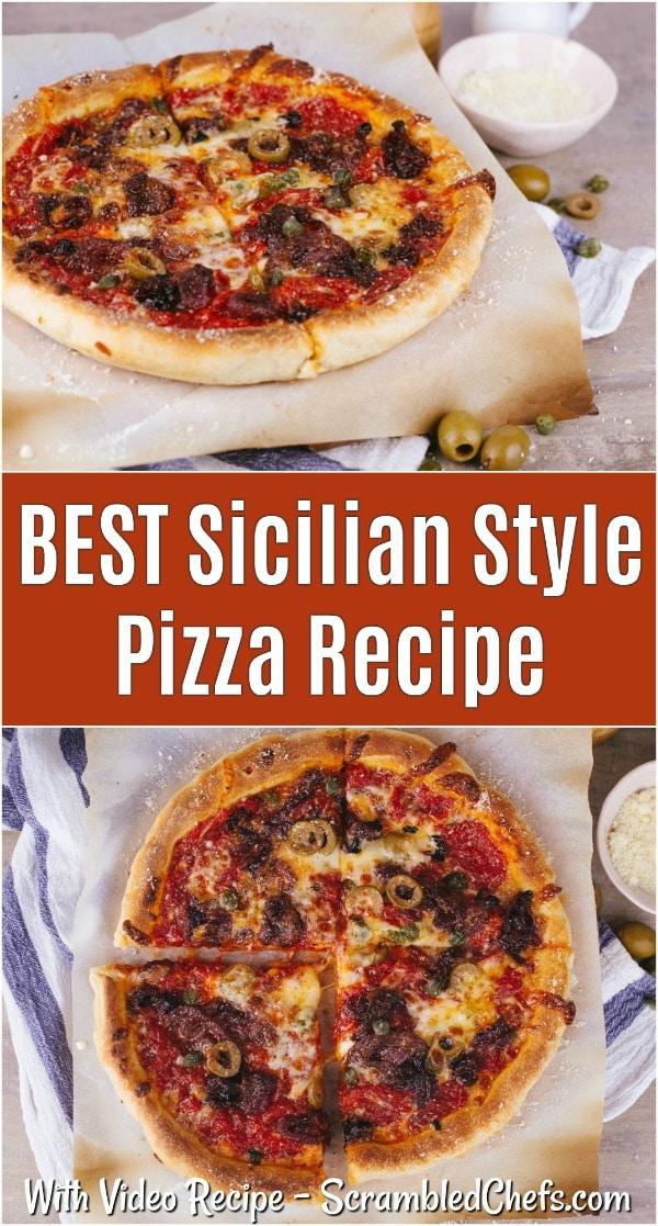 Sicilian Pizza collage