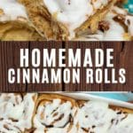 Cinnamon Roll Recipe Collage