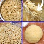 Egg noodles collage