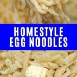 Egg noodle collage