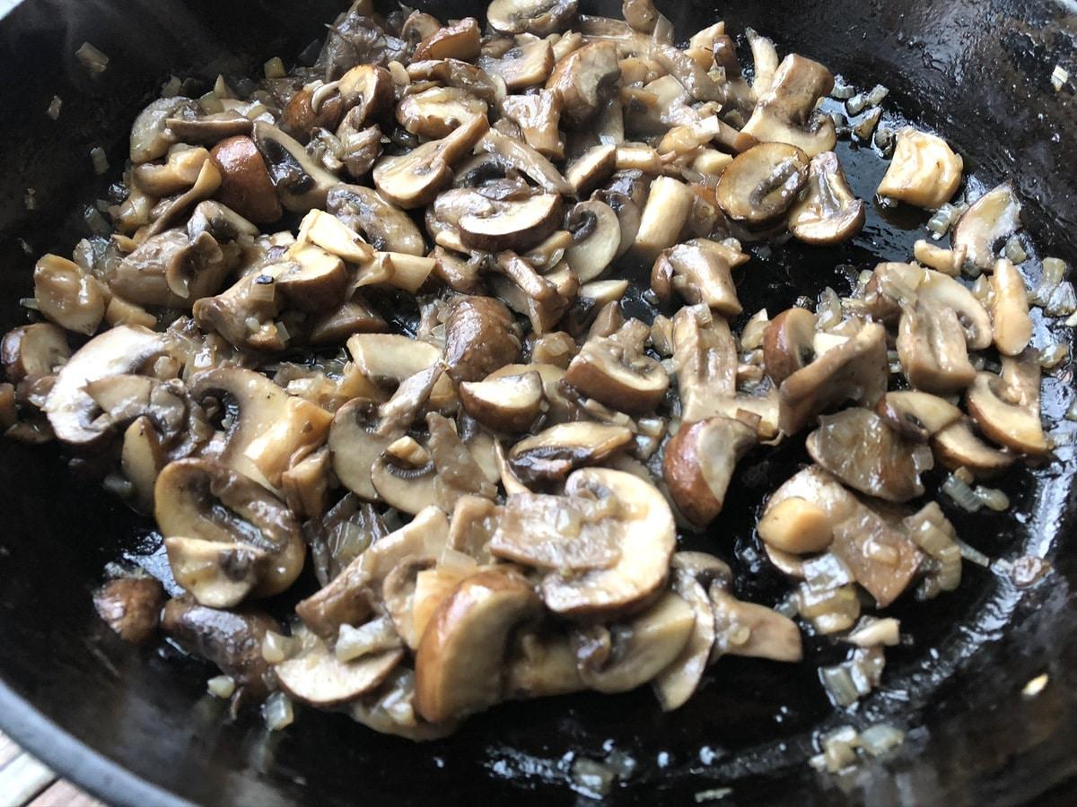 Mushrooms in skilet