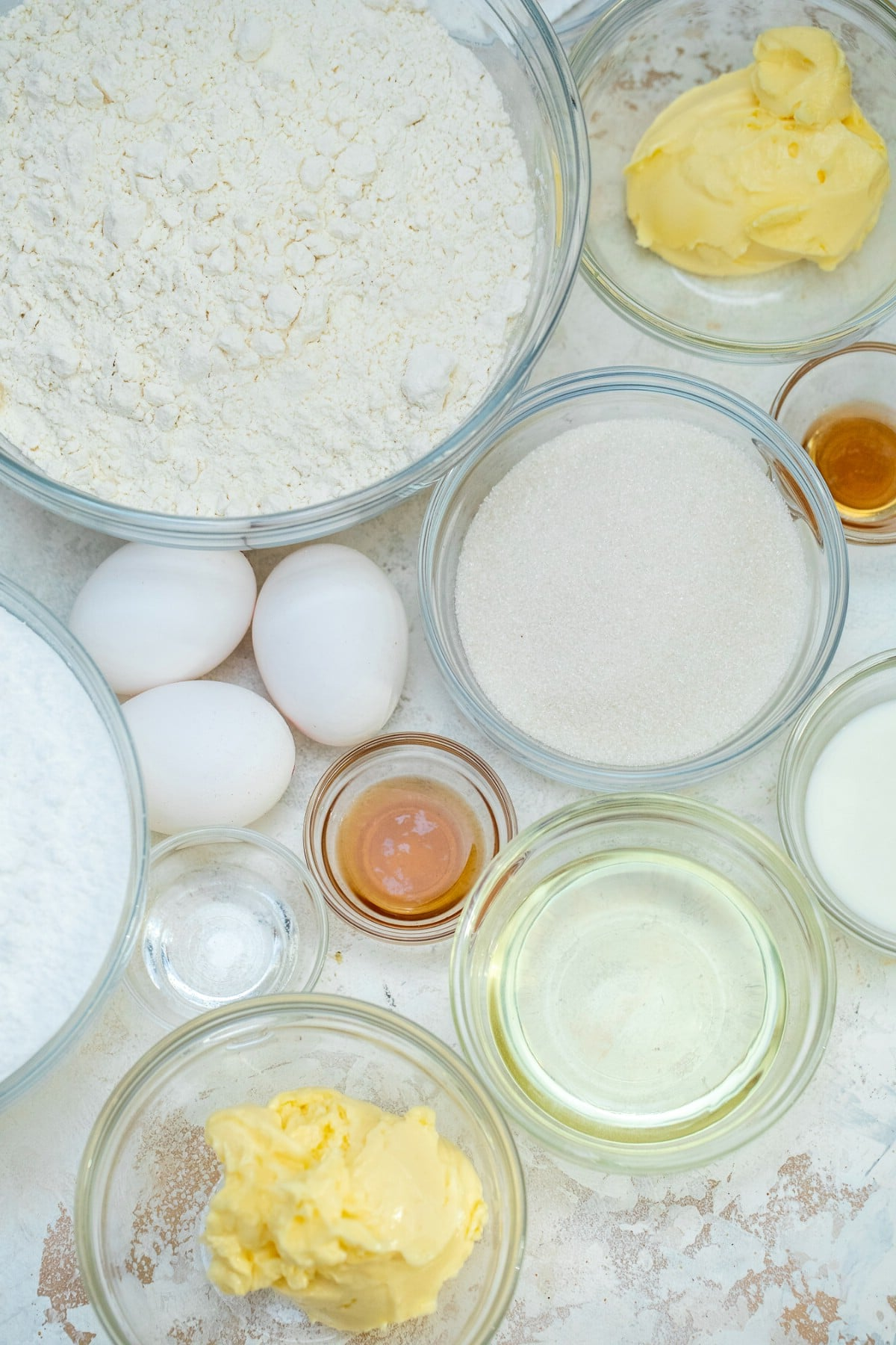 Ingredients for Easter cookies