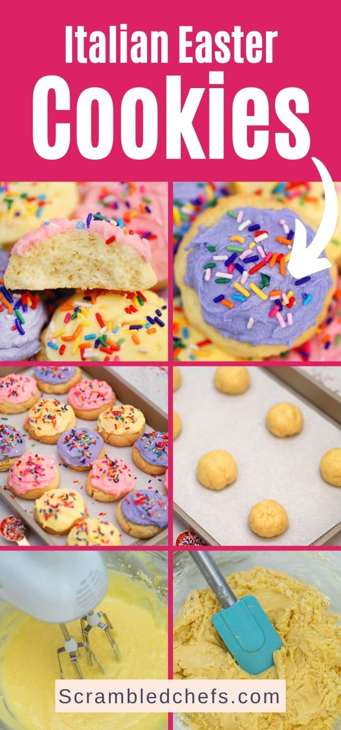 Italian Easter Cookies collage