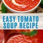 Tomato soup picture collage