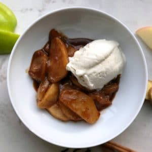 Chai-Spiced Baked Apples with Vanilla Bean Gelato