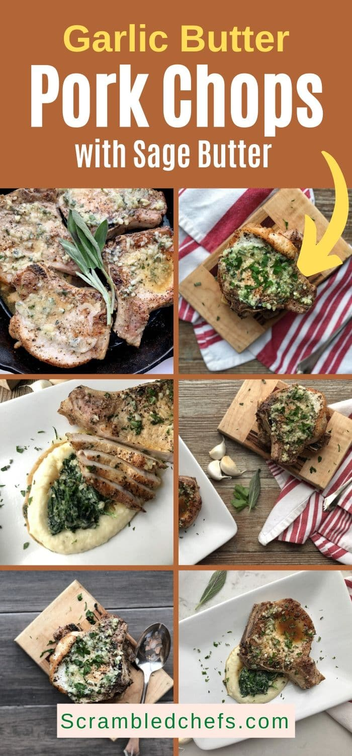 Pork chop collage