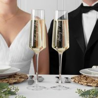 Personalized Wedding Champagne Flute