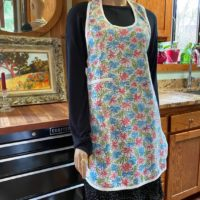 Vintage Bib Apron with Pocket