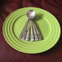 6 Cream Soup Spoons Coronation Silverplate 1936 Community Hampton Court Flatware