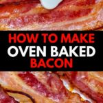 Oven baked bacon collage