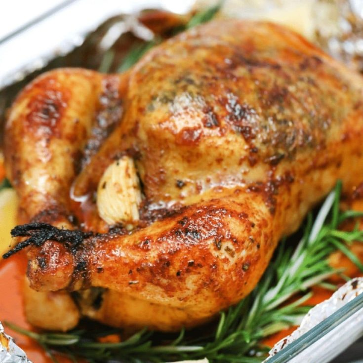 Roasted Chicken with Garlic Butter
