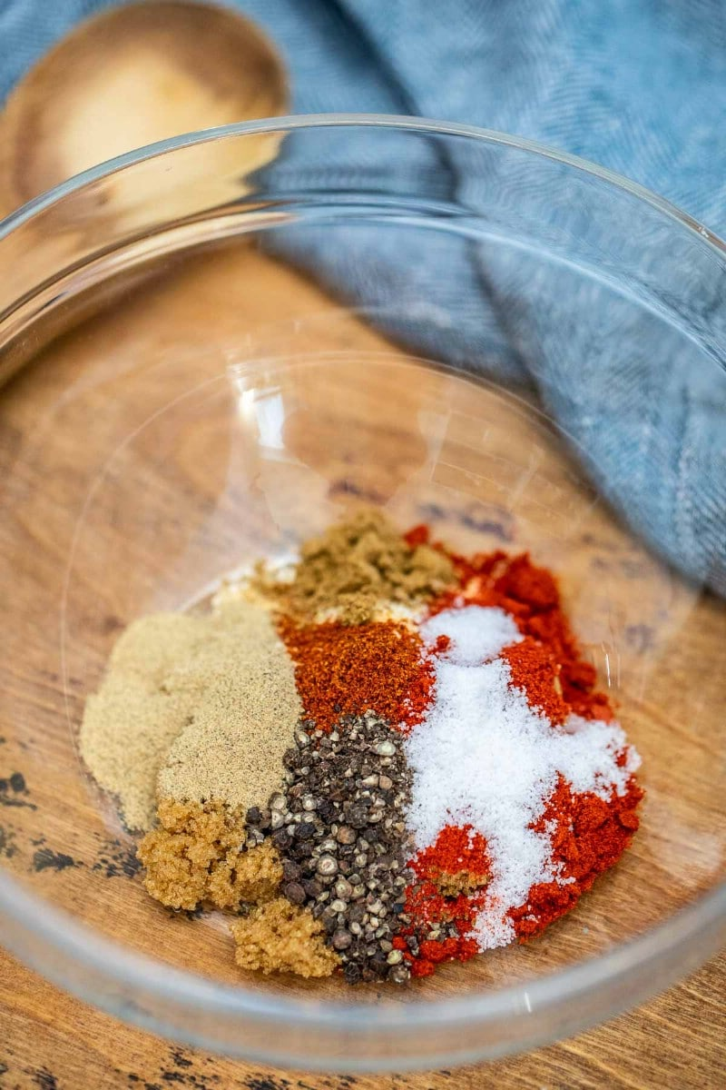 Bowl of barbecue sauce spice blend