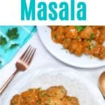 Tikka masala on a white plate