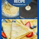 Homemade crepes collage