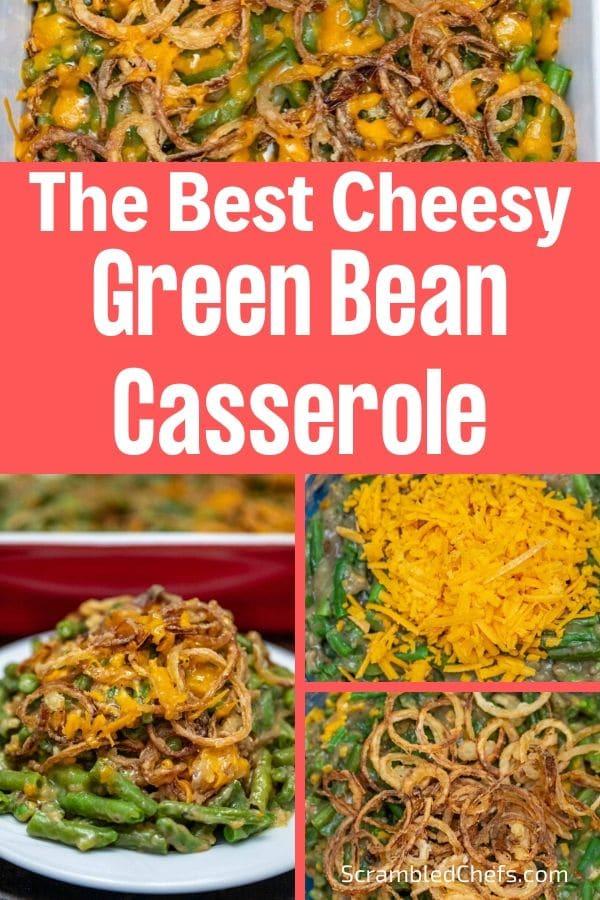 Green bean casserole collage