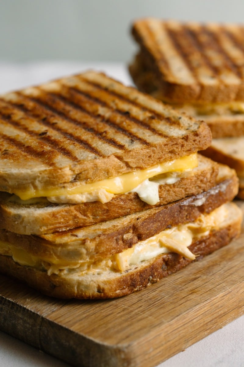 Creamy Grilled Chicken And Cheese Sandwich Scrambled Chefs