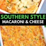 Baked macaroni and Cheese collage