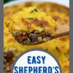 Wooden spoon of shepherd's pie