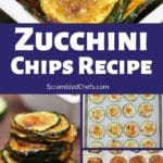 Zucchini chips collage